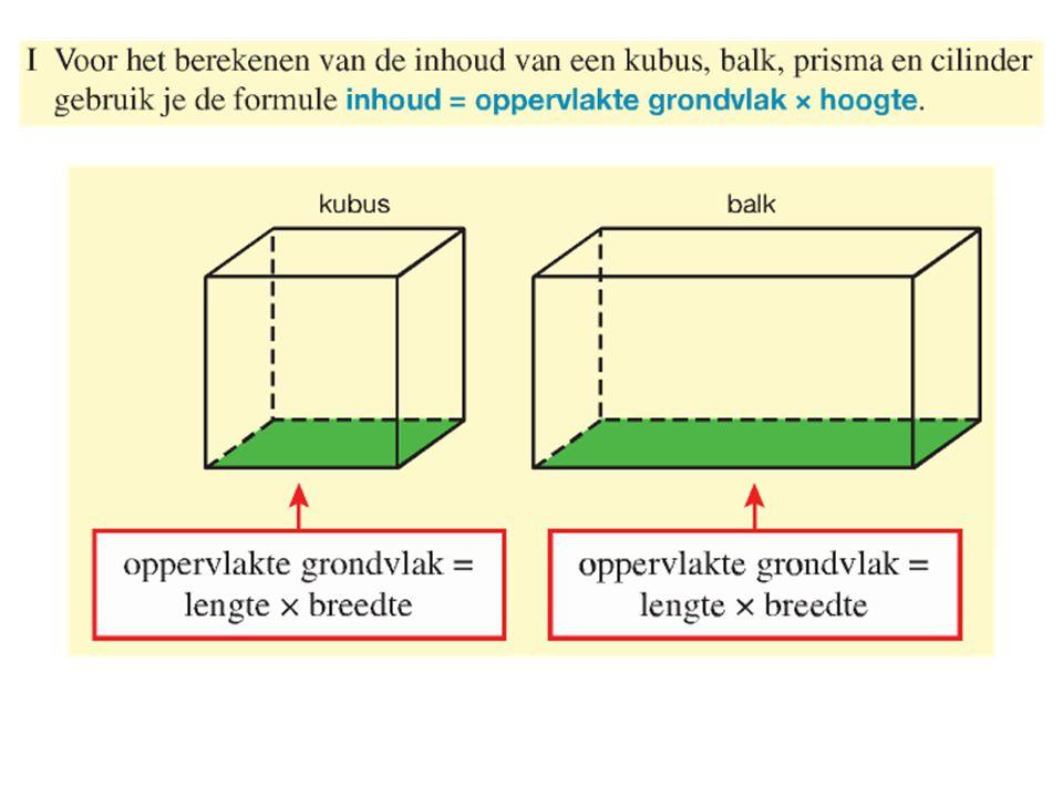 59a)Inhoud = π x straal 2 x hoogte Inhoud = π x 30 2 x hoogte Inhoud = π x 30 2 x 100 = 282743,34 cm 3