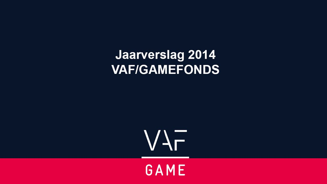 Jaarverslag 2012- 2013 GAMEFONDS