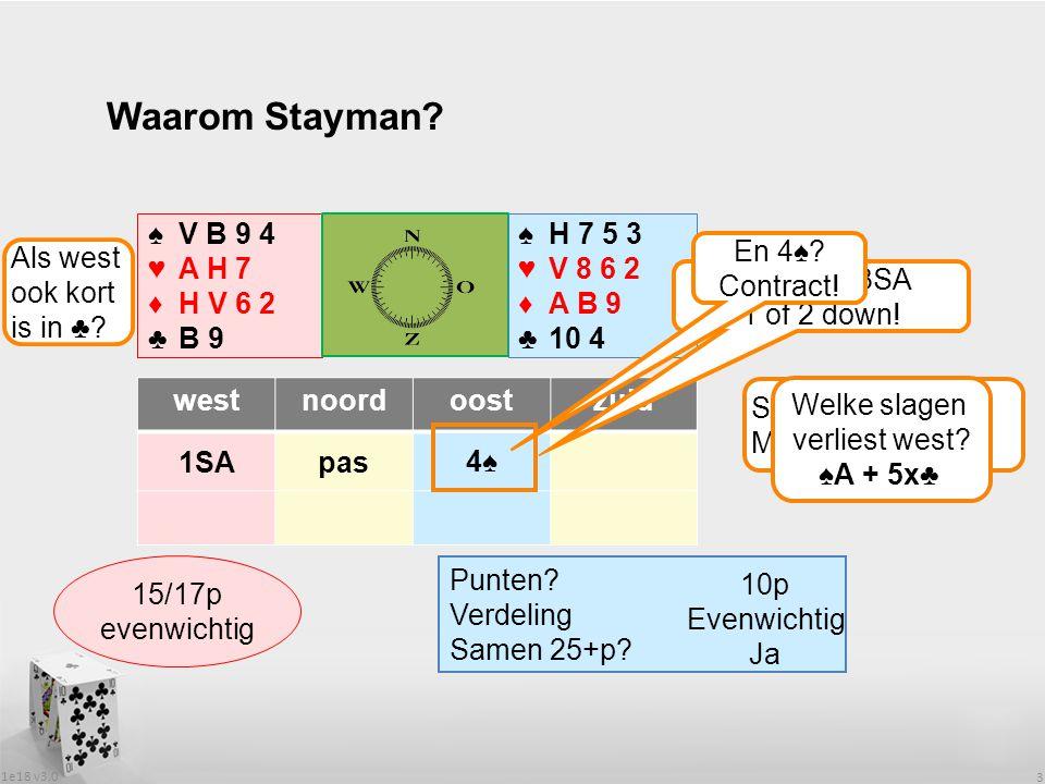 1e18 v3.0 3 Waarom Stayman.