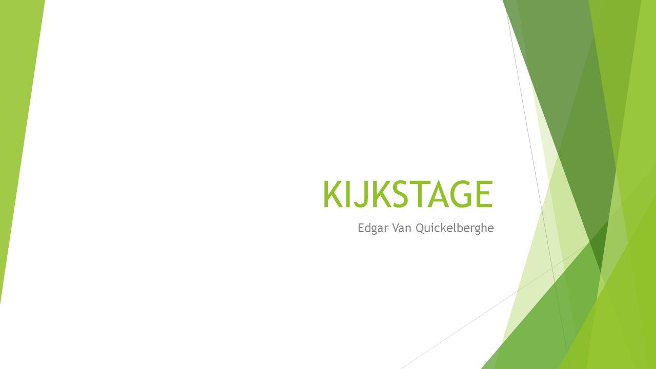 KIJKSTAGE Edgar Van Quickelberghe