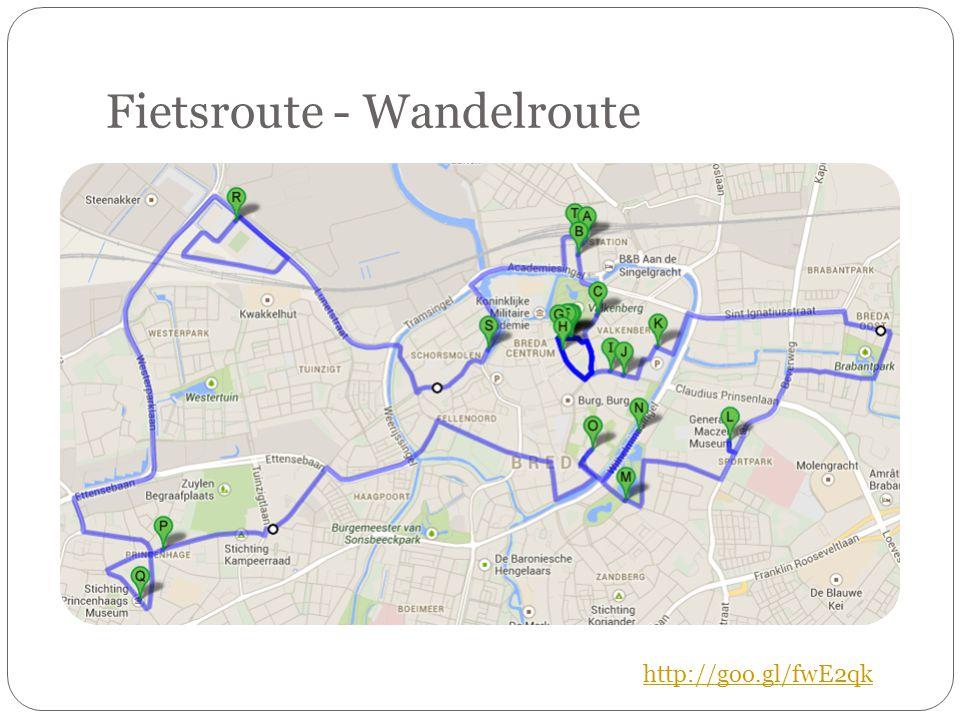 Fietsroute - Wandelroute http://goo.gl/fwE2qk
