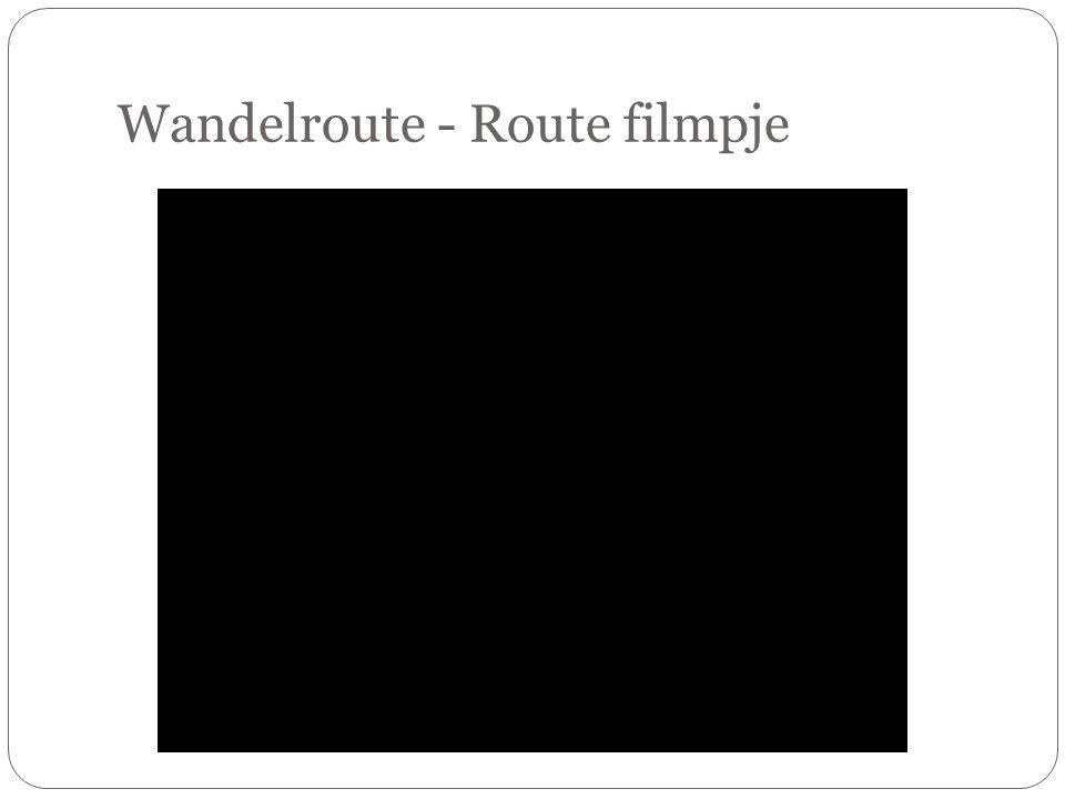 Wandelroute - Route filmpje