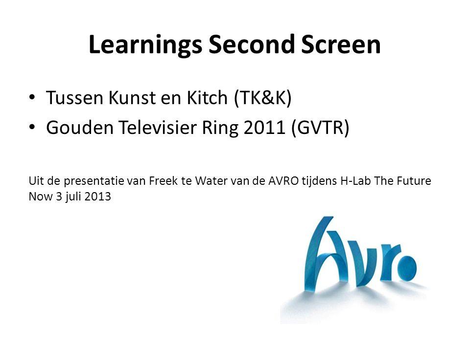 TK&K Learnings: Bad Niet-LIVE TV-programma (geen integratie) Presentator promotie (1x, montage, vooraf aflevering) CTA s mbv infographics (montage, 4s beeld) Oudere doelgroep (gem.