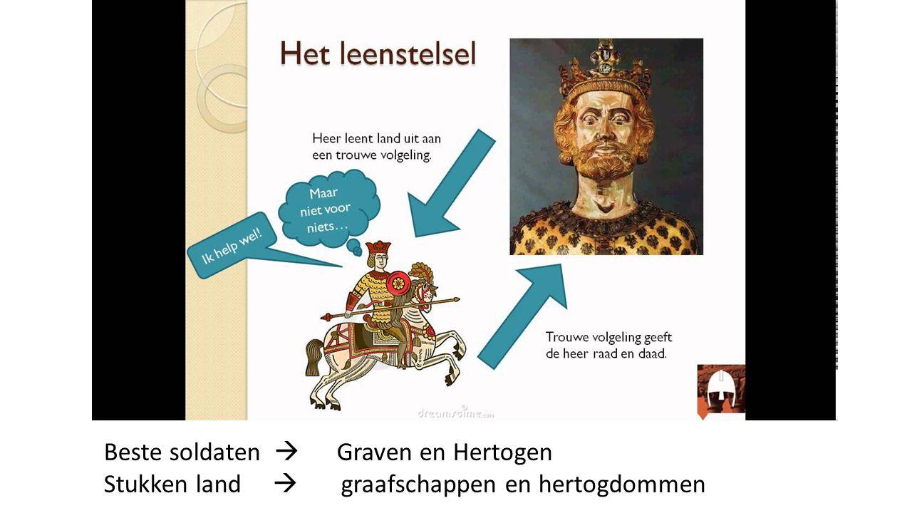 Beste soldaten  Graven en Hertogen Stukken land  graafschappen en hertogdommen