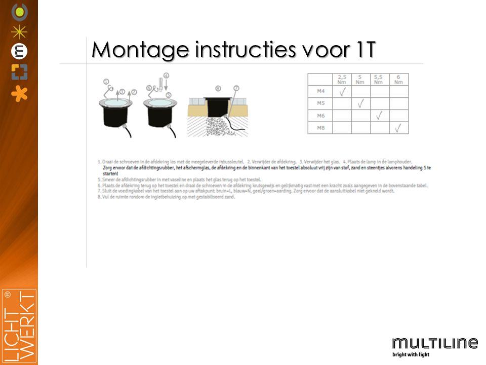 Montage instructies voor 1T