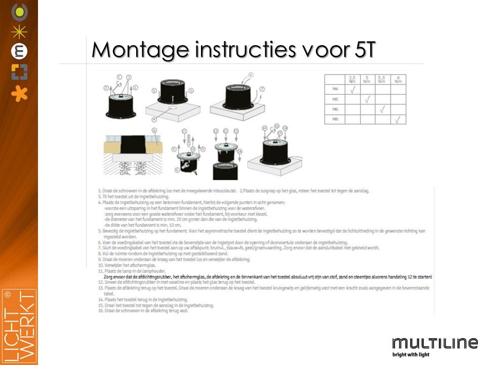 Montage instructies voor 5T