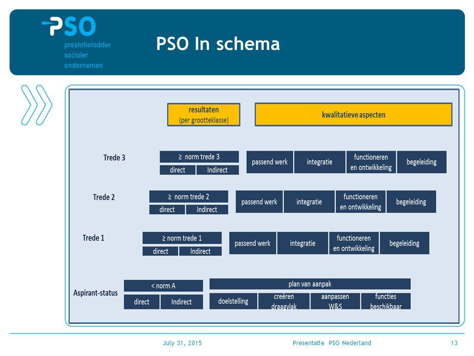 July 31, 2015Presentatie PSO Nederland13 PSO In schema