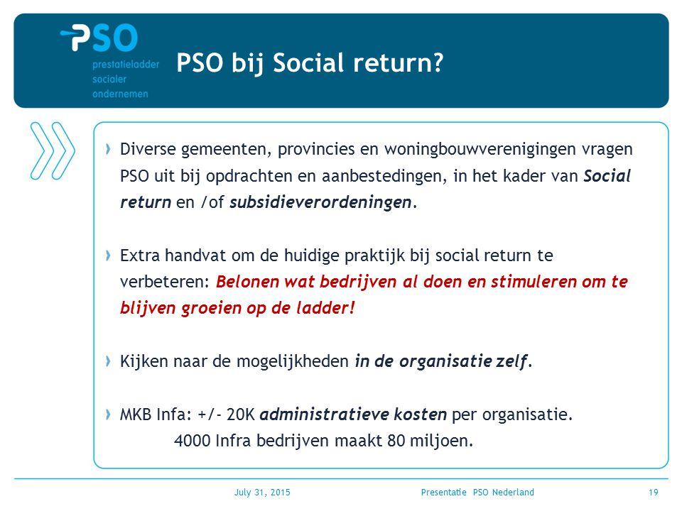 PSO bij Social return? Diverse gemeenten, provincies en woningbouwverenigingen vragen PSO uit bij opdrachten en aanbestedingen, in het kader van Socia