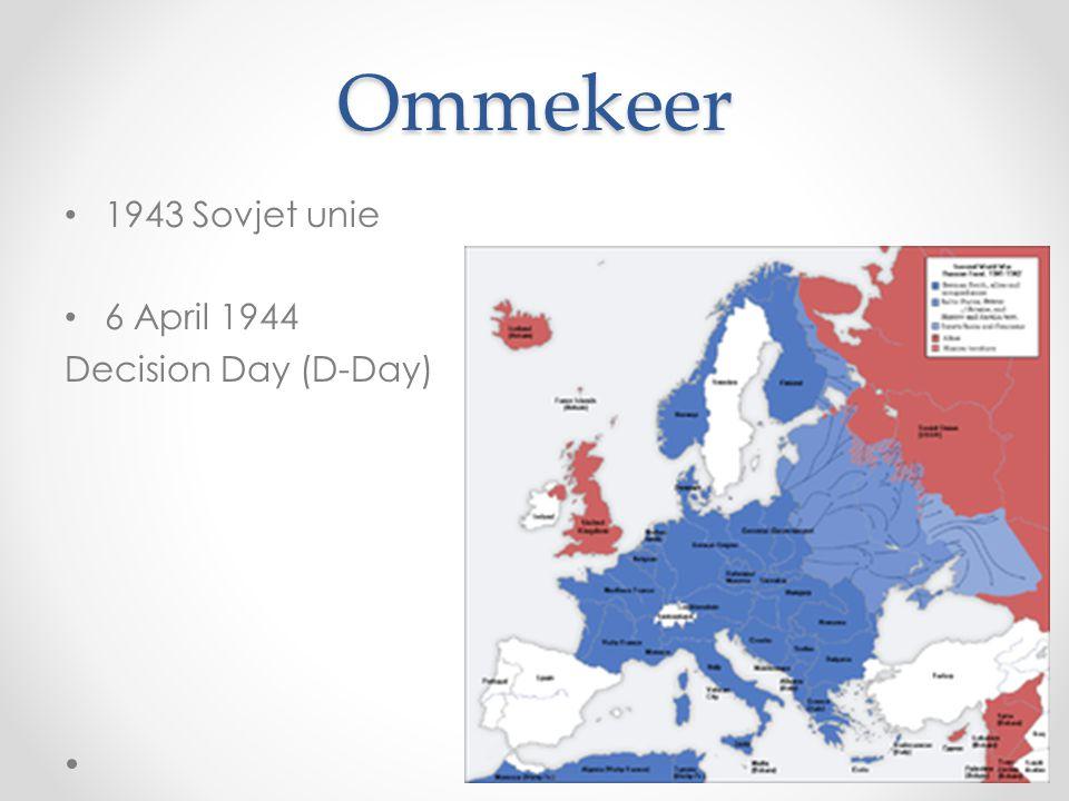Ommekeer 1943 Sovjet unie 6 April 1944 Decision Day (D-Day)