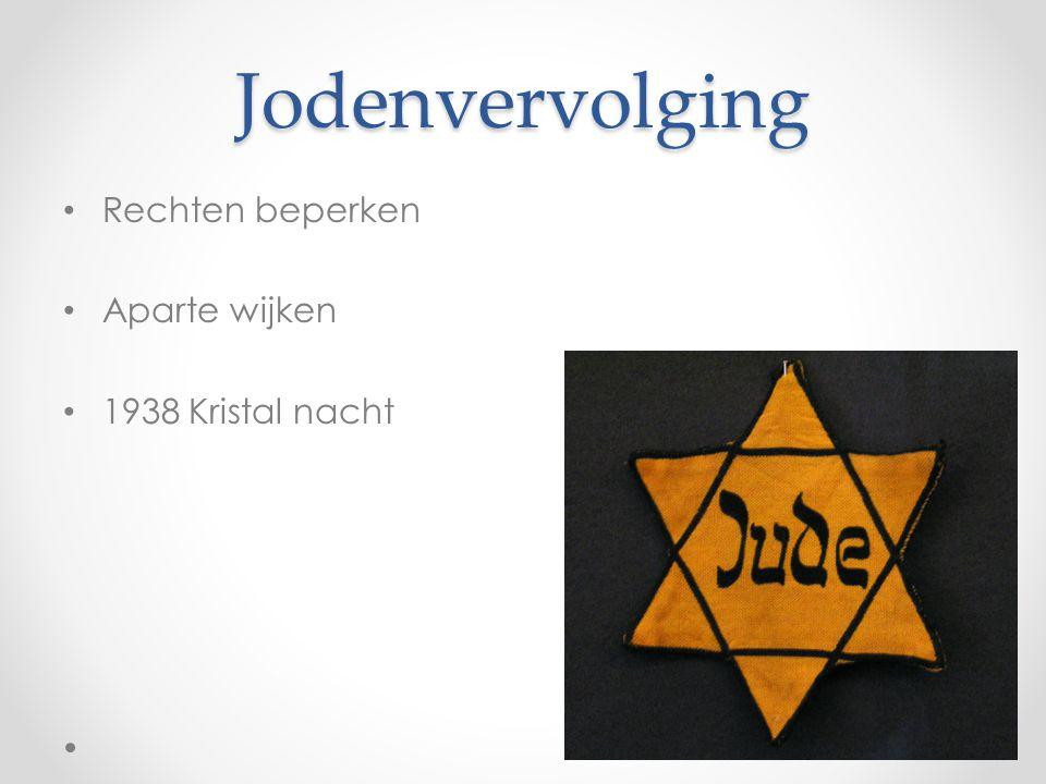 Jodenvervolging Rechten beperken Aparte wijken 1938 Kristal nacht