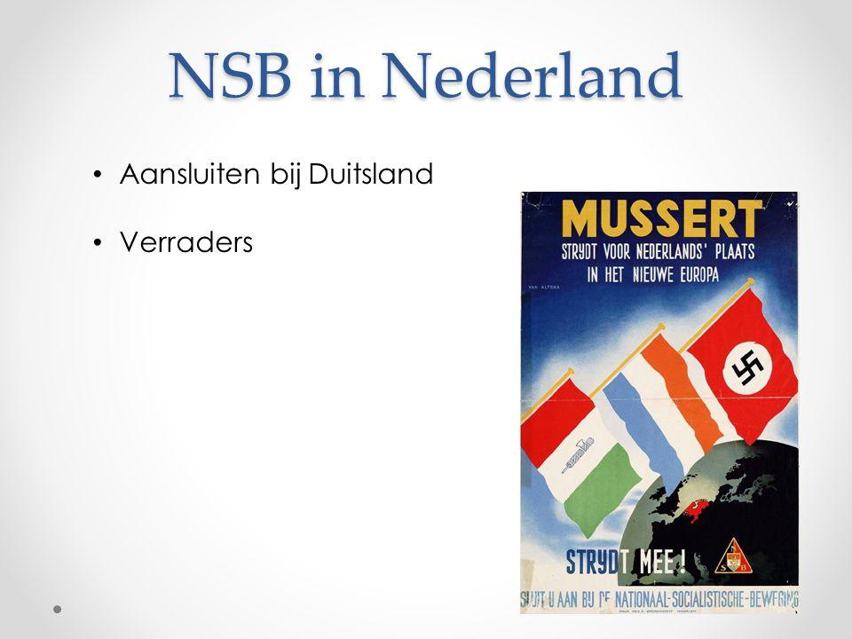NSB in Nederland Aansluiten bij Duitsland Verraders