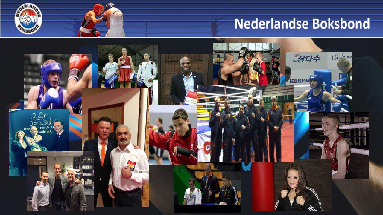 Juni 2015 Officiële presentatie van Baku-ploeg met Nouchka Fontijn en Peter Mullenberg Welkom aan twee districtsvoorzitters in bestuur boksbond
