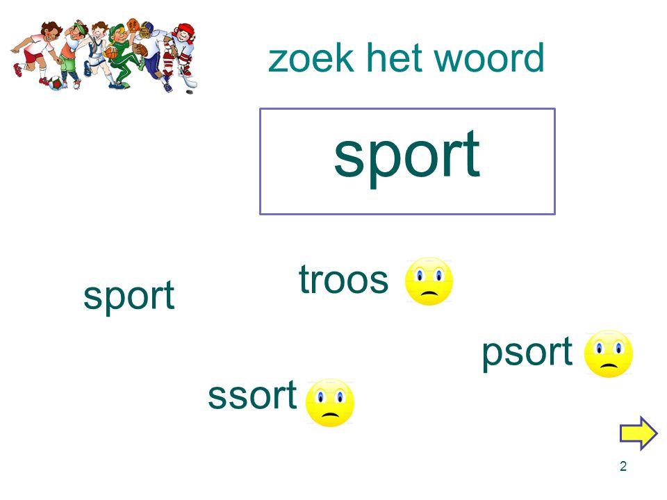 Digibordles: zoek het woord sport 1 makkelijkmoeilijker Gemaakt door Margriet van Diepen