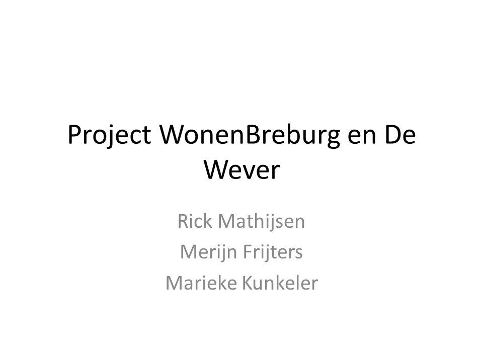 Project WonenBreburg en De Wever Rick Mathijsen Merijn Frijters Marieke Kunkeler