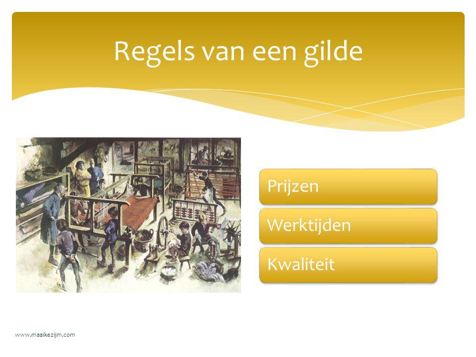 PrijzenWerktijdenKwaliteit Regels van een gilde www.maaikezijm.com