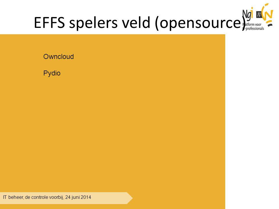 IT beheer, de controle voorbij, 24 juni 2014 EFFS spelers veld (opensource) Owncloud Pydio