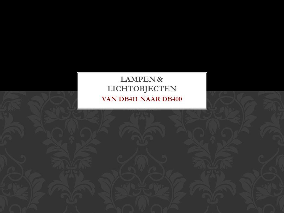 VAN DB411 NAAR DB400