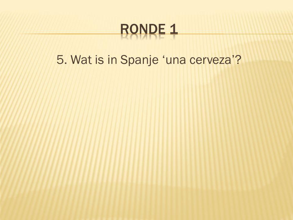 5. Wat is in Spanje 'una cerveza'?
