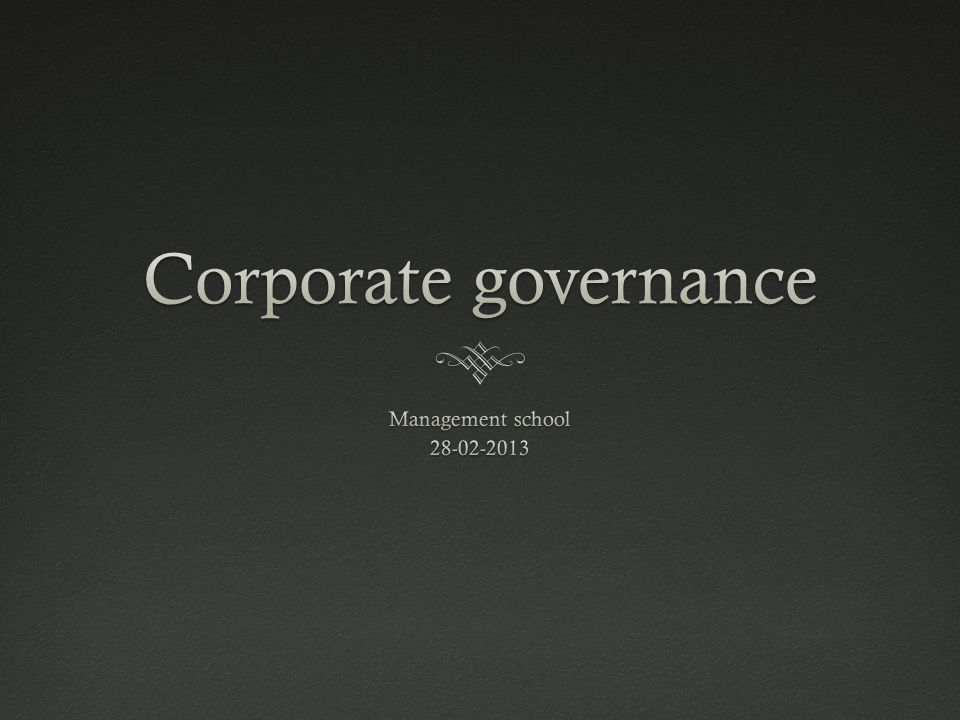 Wat is Corporate governance ?Wat is Corporate governance .