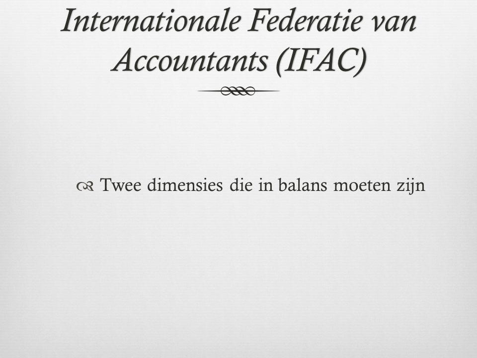 Internationale Federatie van Accountants (IFAC)  Twee dimensies die in balans moeten zijn