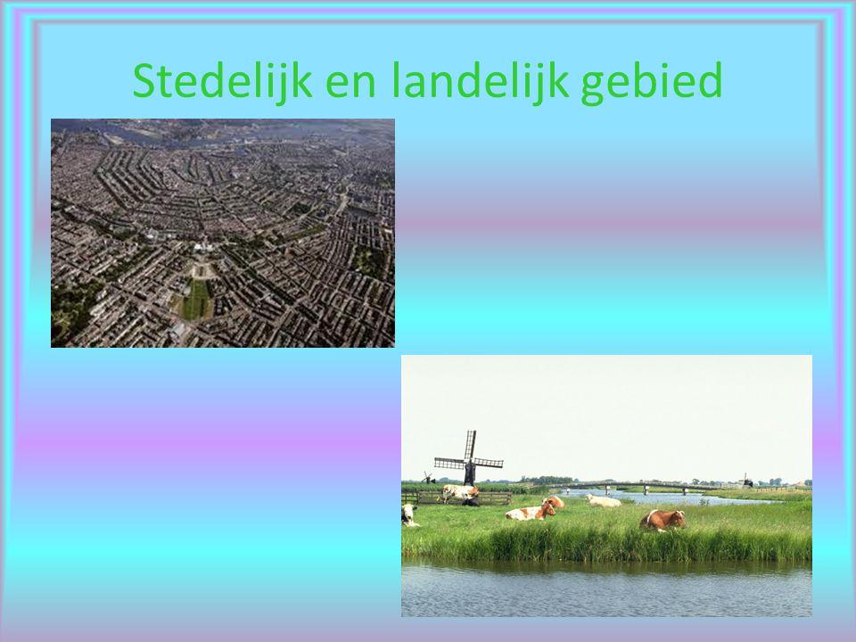 Stedelijk en landelijk gebied