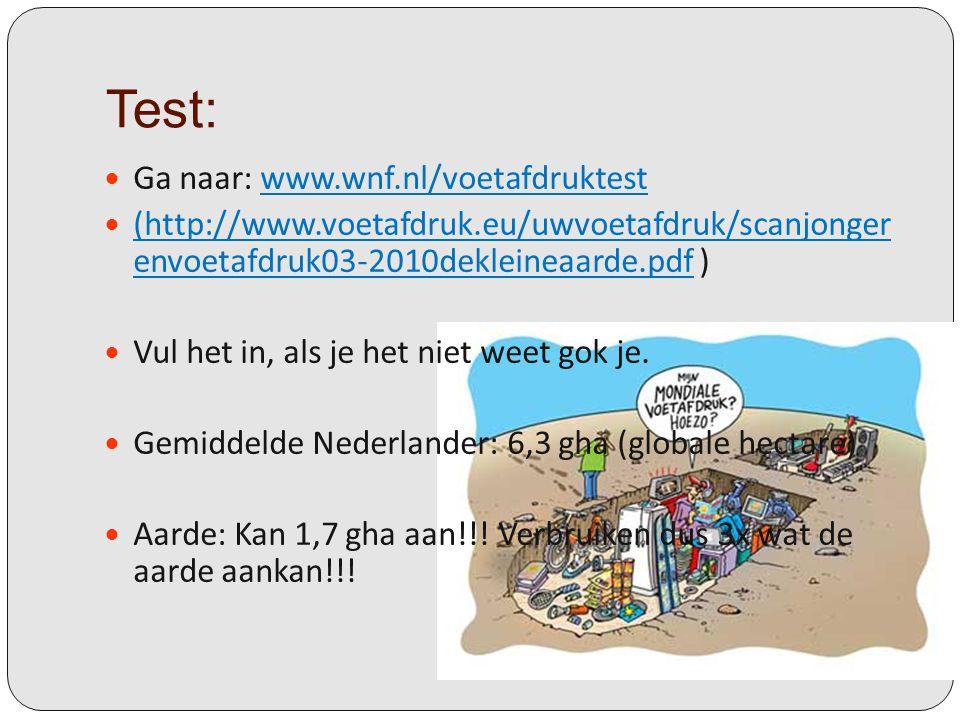 Test: Ga naar: www.wnf.nl/voetafdruktestwww.wnf.nl/voetafdruktest (http://www.voetafdruk.eu/uwvoetafdruk/scanjonger envoetafdruk03-2010dekleineaarde.p