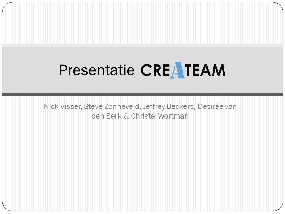 Nick Visser, Steve Zonneveld, Jeffrey Beckers, Desirée van den Berk & Christel Wortman Presentatie