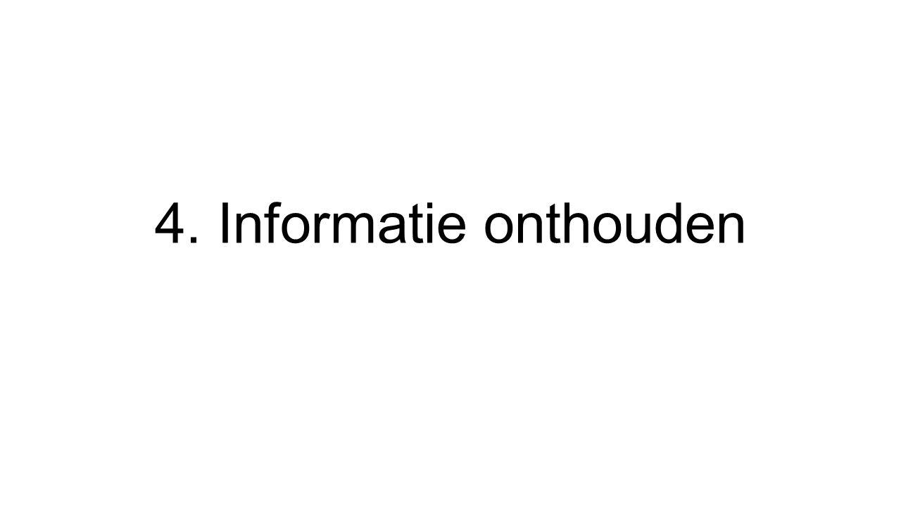 Inleiding Onthouden van informatie van college