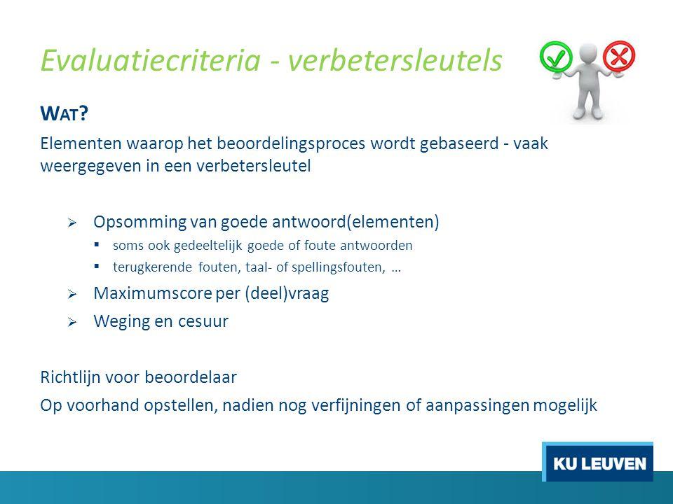 17 & 20 oktober 2014 Opleiding Lesgeven aan de KU Leuven