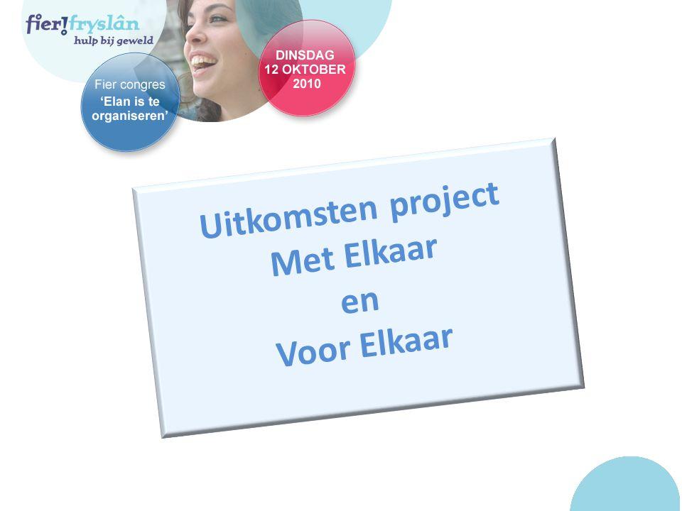 Uitkomsten project Met Elkaar en Voor Elkaar