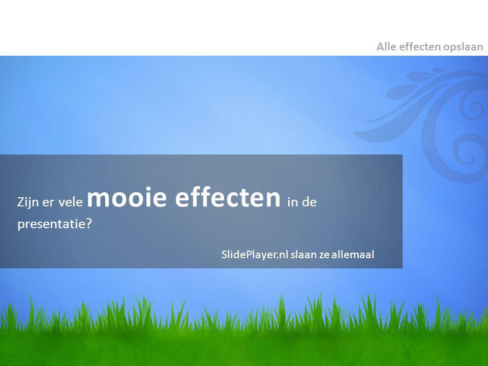 Zijn er vele mooie effecten in de presentatie.
