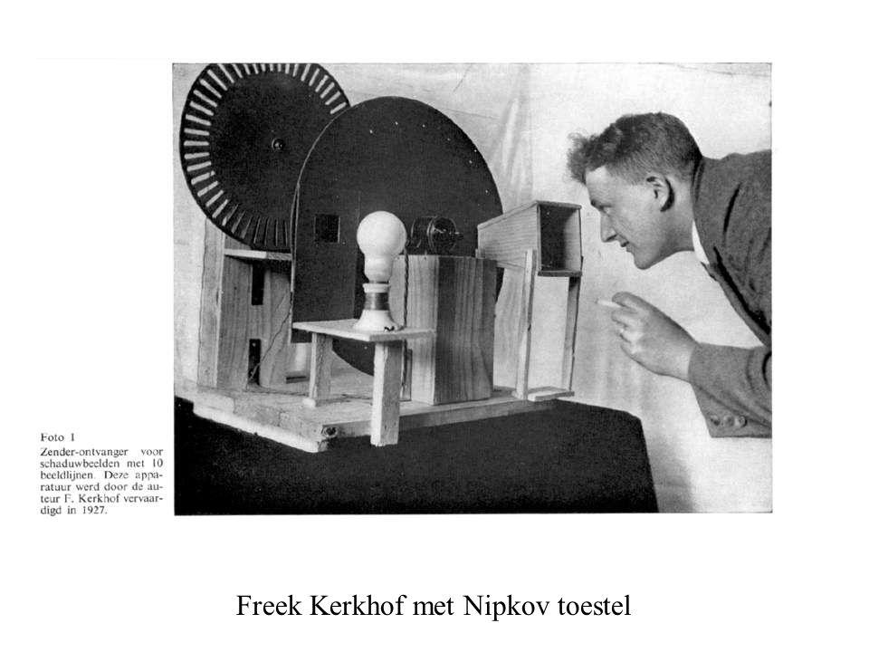 Freek Kerkhof met Nipkov toestel