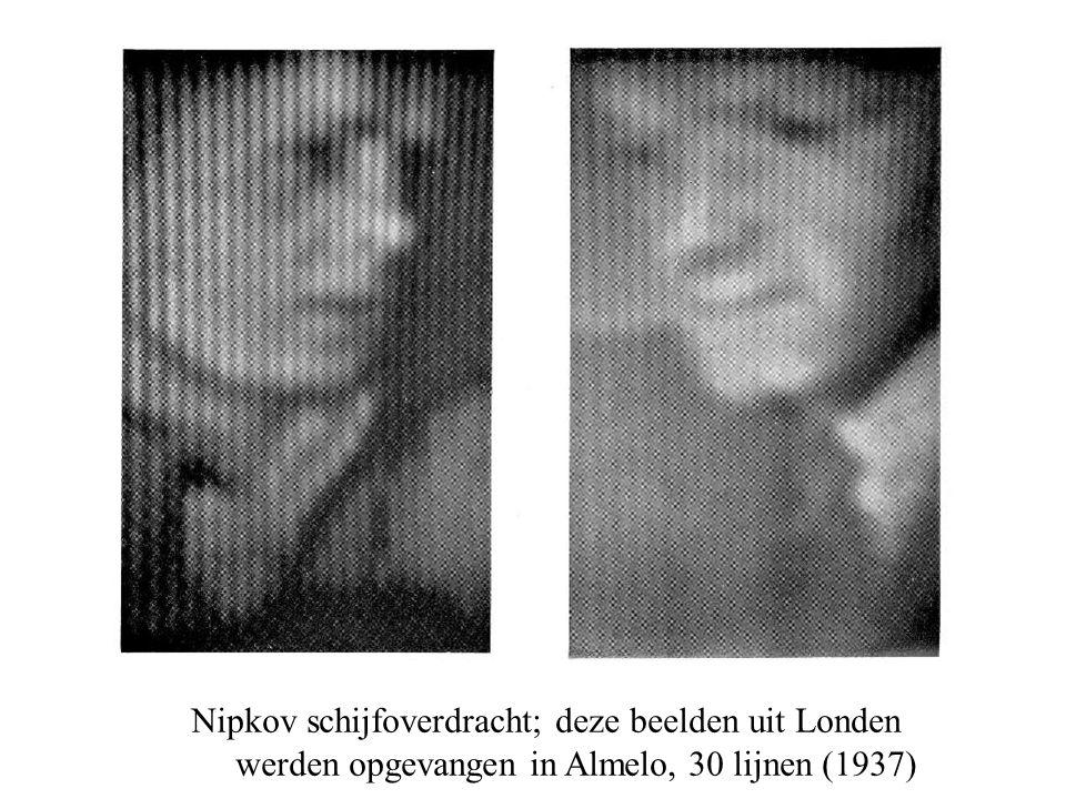 Nipkov schijfoverdracht; deze beelden uit Londen werden opgevangen in Almelo, 30 lijnen (1937)