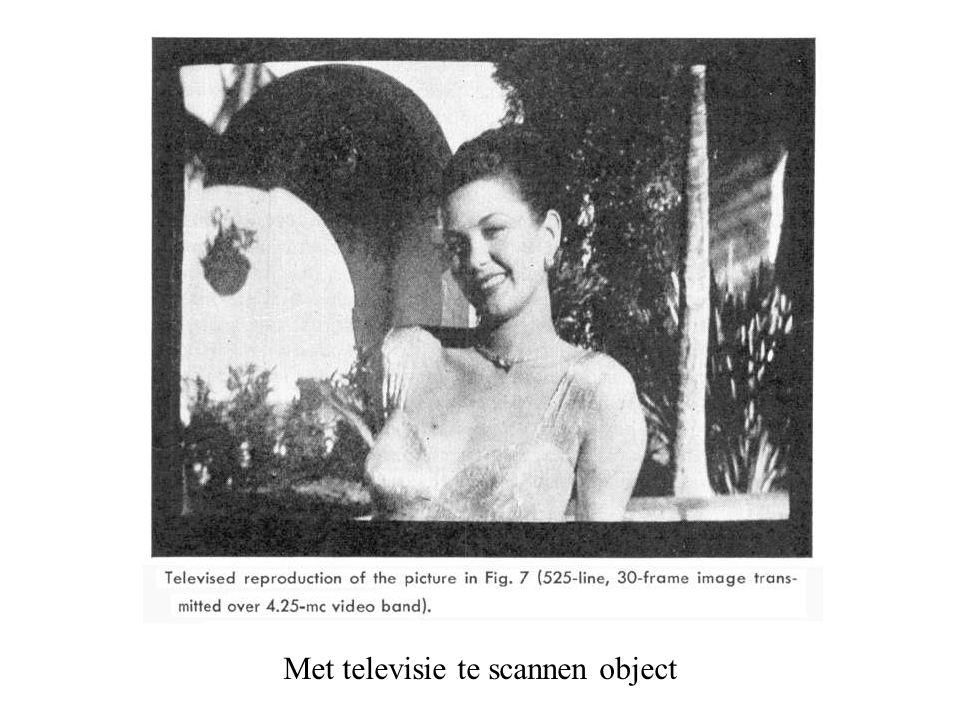 Met televisie te scannen object