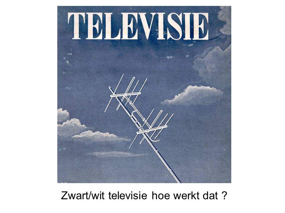 Zwart/wit televisie hoe werkt dat ?
