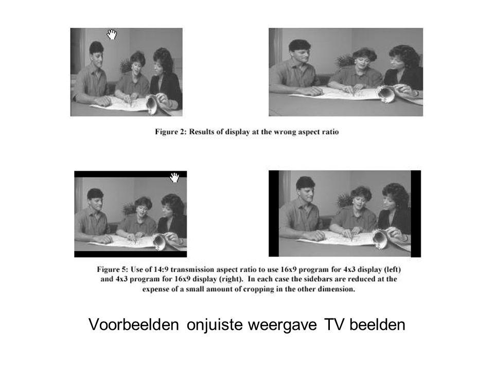 Voorbeelden onjuiste weergave TV beelden
