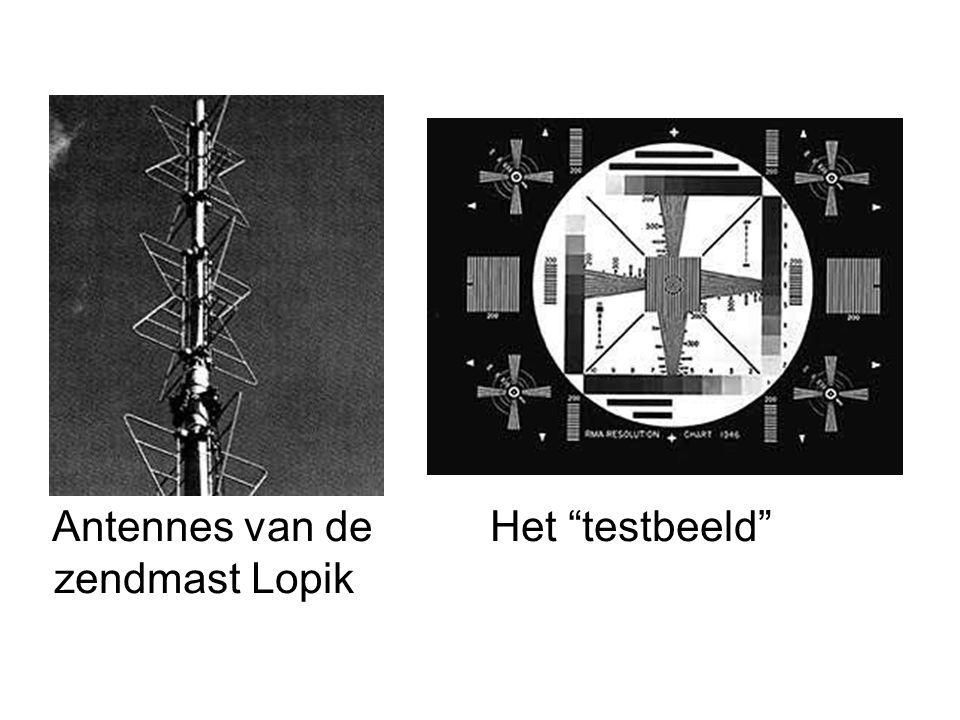 Antennes van de Het testbeeld zendmast Lopik