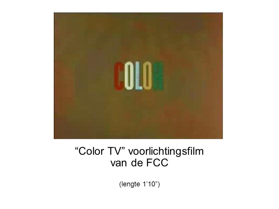 Color TV voorlichtingsfilm van de FCC (lengte 1'10 )