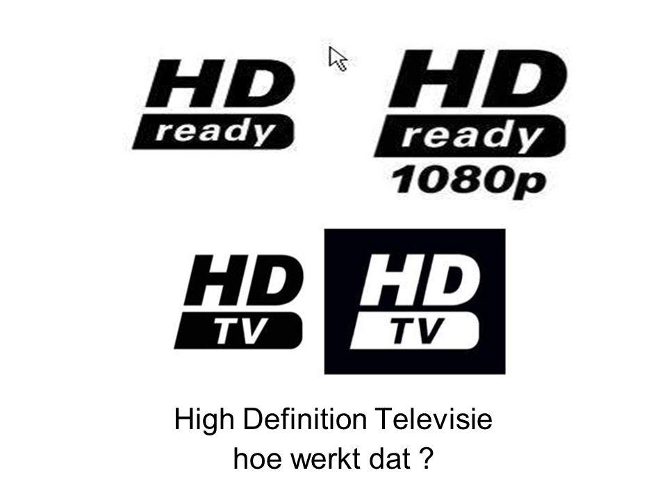 High Definition Televisie hoe werkt dat ?