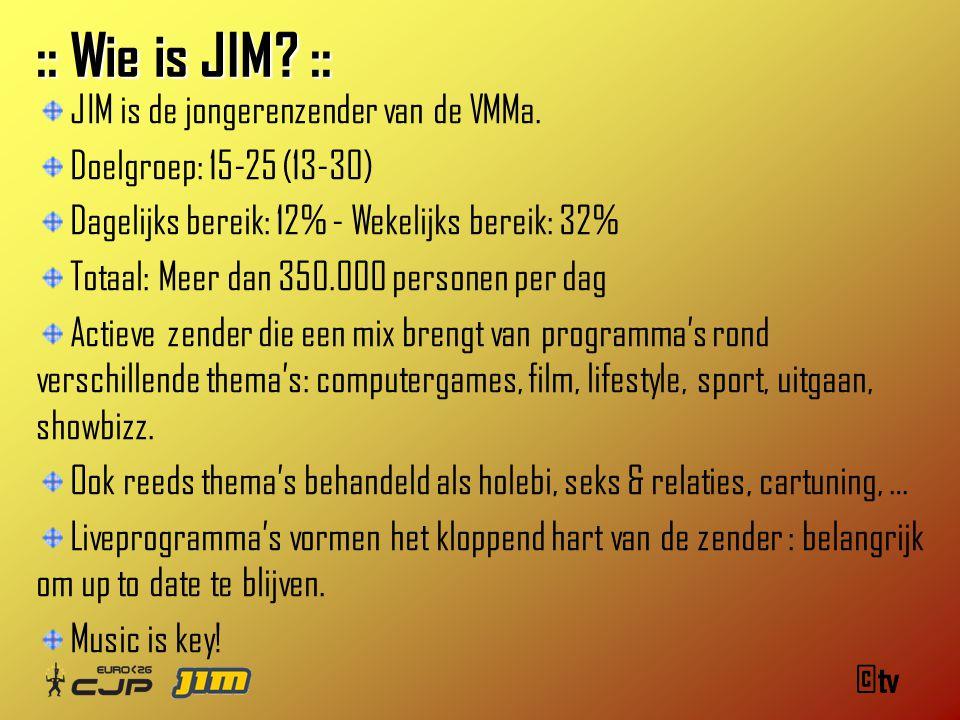 :: Wie is JIM. :: JIM is de jongerenzender van de VMMa.