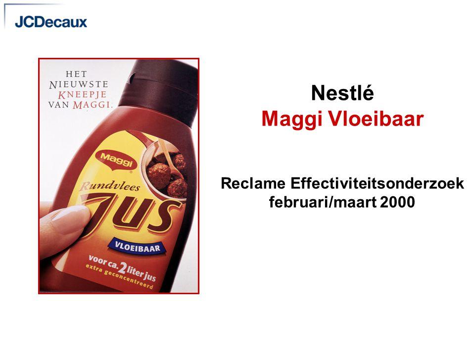 JCDecaux Nederland Communicatie doelstellingen v Communiceren dat Maggi Vloeibare Jus een nieuw product is.