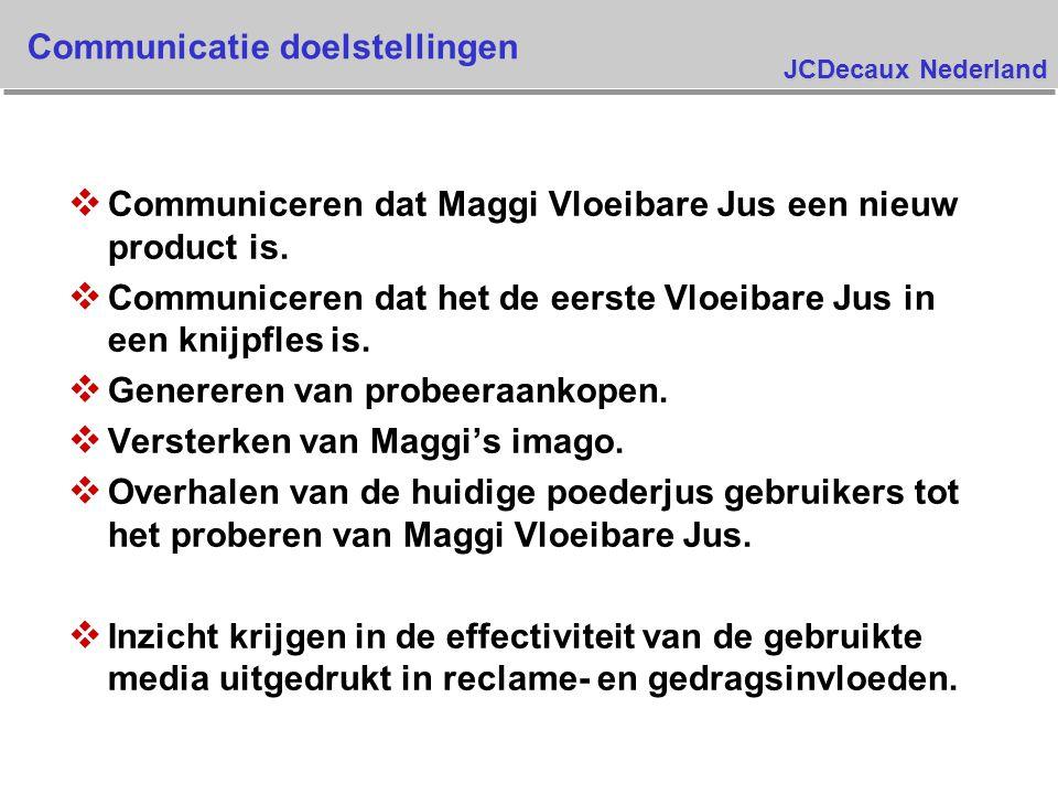 JCDecaux Nederland Spontane bekendheid TV commercial Maggi Basis : allen Pre Campaign Post TV Post Campaign