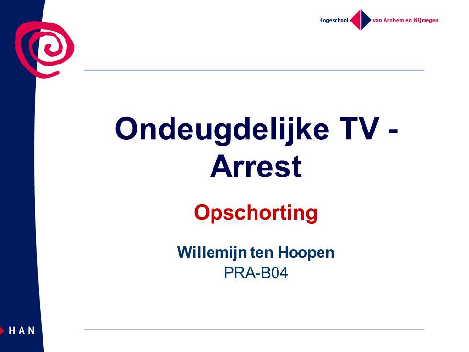 Ondeugdelijke TV - Arrest Opschorting Willemijn ten Hoopen PRA-B04