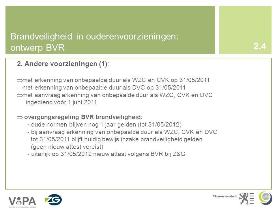 Brandveiligheid in ouderenvoorzieningen: ontwerp BVR 2.