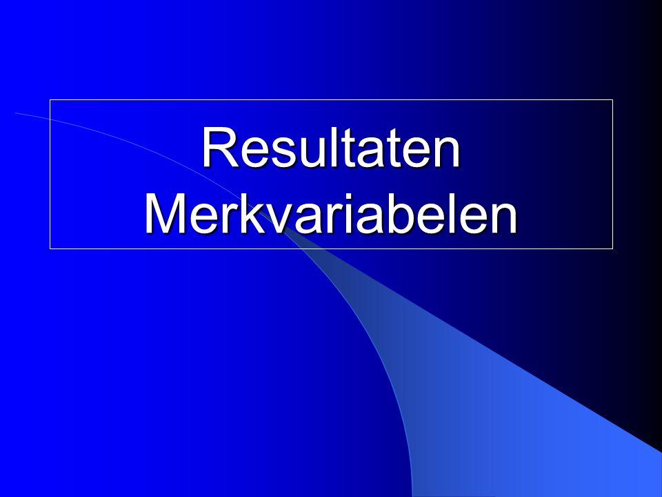 Resultaten Merkvariabelen