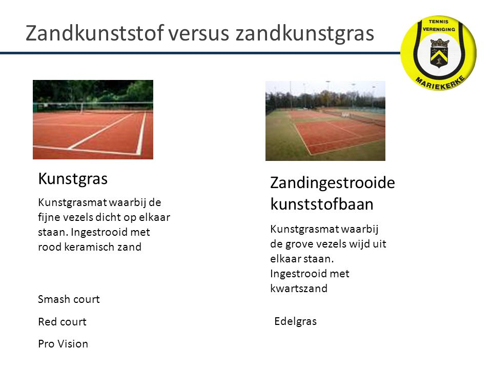 Kunstgras Zandingestrooide kunststofbaan Smash court Red court Pro Vision Kunstgrasmat waarbij de fijne vezels dicht op elkaar staan.