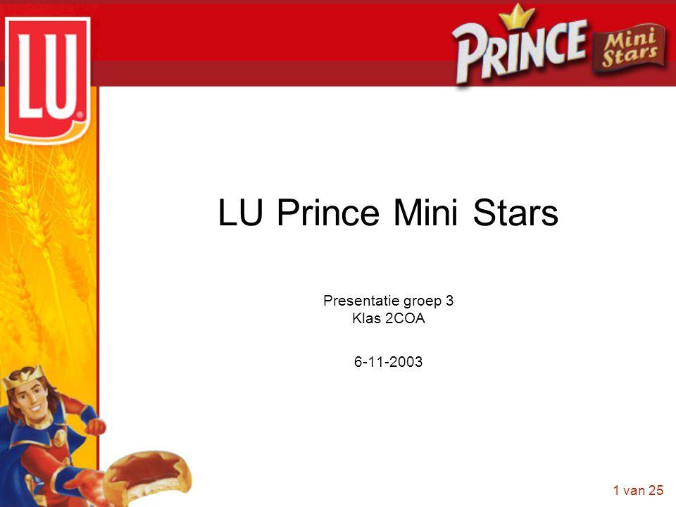 1 van 25 LU Prince Mini Stars Presentatie groep 3 Klas 2COA 6-11-2003