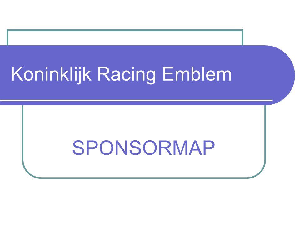 Koninklijk Racing Emblem SPONSORMAP