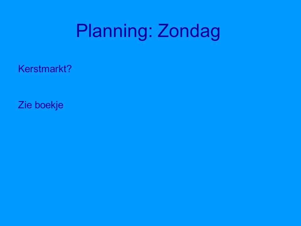 Planning: Zaterdag Survivallen? Zie boekje