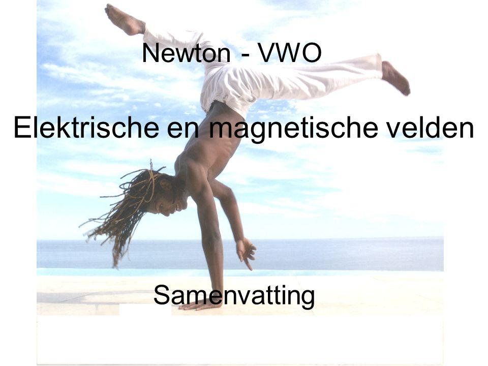 Newton - VWO Elektrische en magnetische velden Samenvatting